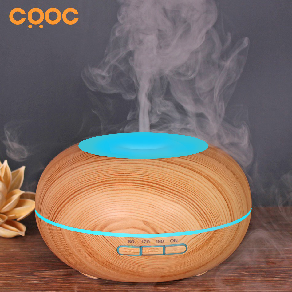 New! CRDC 300ml Air Humidifier Essential Oil Diffuser Aroma Lamp Aromatherapy Electric Aroma Diffuser Mist Maker for Home-Wood crdc essential oil diffusor 80ml air humidifier aroma lamp aromatherapy electric ultrasonic aroma diffuser mist maker for home