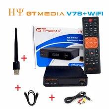 20 sztuk GTMEDIA V7S z WIFI DVB S2 HD odbiornik satelitarny Youtube PowerVU CCa z5 mini Newca GTMEDIA V7S wifi