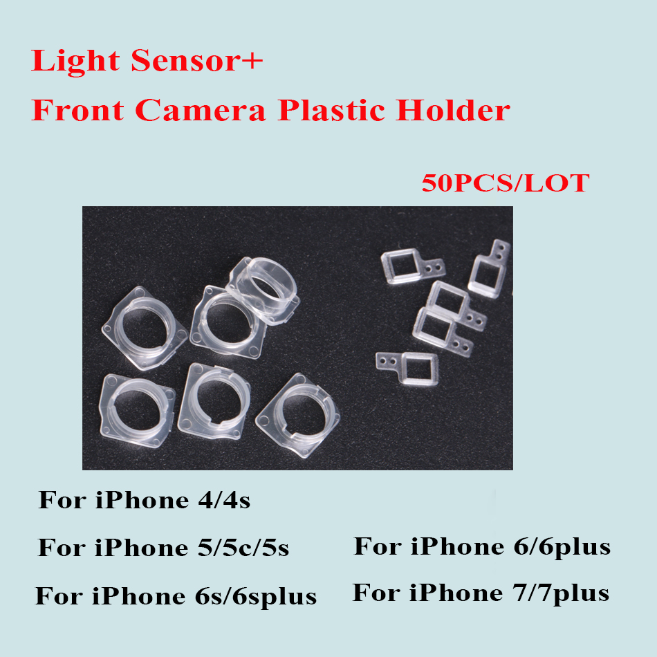 50sets/lot for iPhone 7 7Plus 6 6S Plus 5 5C 5S SE 4 4S Front Camera Plastic Cap Seal Bracket Ring+Light Sensor Circle Holder