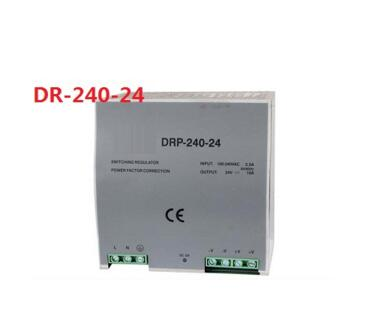 Din rail type 240W 24v 10A single output switching power supply ac-dc smps for led light, cnc cctv, model: DR-240-24 ac dc dr 60 5v 60w 5vdc switching power supply din rail for led light free shipping