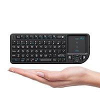 Rii x1ミニ2.4グラムワイヤレスキーボード付きタッチパッド用スマートテレビ用htpc用pcハンドヘルドスマートフライマウスゲーアクセサリー