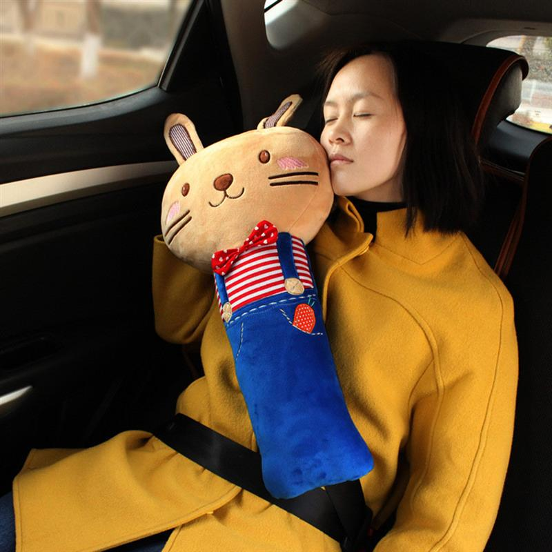 Cartoon Seatbelt Pillow Auto Seat Belt Strap Cover Car Safety Soft Plush Shoulder Pads Cushion For Children In Neck From Automobiles