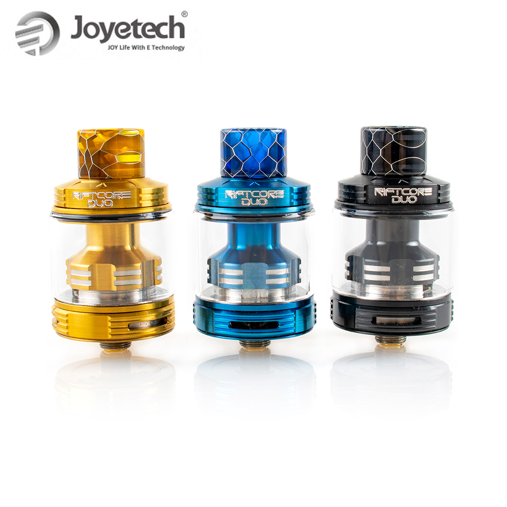 Original Joyetech Riftcore DUO Atomizer RDA Rebuildable Dripping Tank 3 5ml Self cleaning Coilless System Electronic