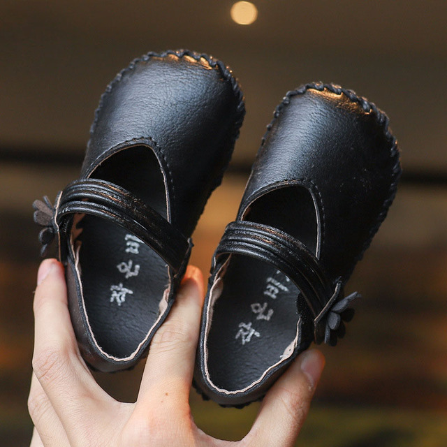 Kids Shoes Children Boys Girls Pu Leather Shoes Baby Retro Toddler Black Patent Leather Princess Party Tenis-infantil Shoes