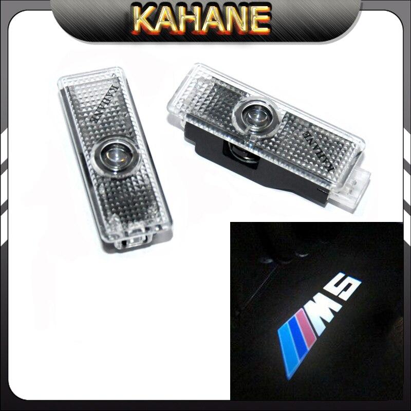 2pcs LED Car door step courtesy laser projector Shadow M5 Logo Light Lamp lights for BMW E60 E90 M5 F10 Z4 E85 E89 E92 E63