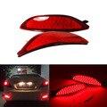 2 unids lente Roja LED Rear bumper reflector luz de freno de la cola Aparcamiento luz de Advertencia de faros de niebla Lámparas para Hyundai accent 2008-2015