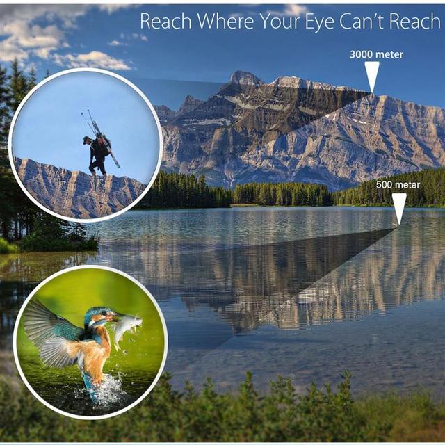 High Clarity Telescope 60X60 Binoculars Hd 10000M High Power For Outdoor Hunting Optical Lll Night Vision binocular Fixed Zoom 2