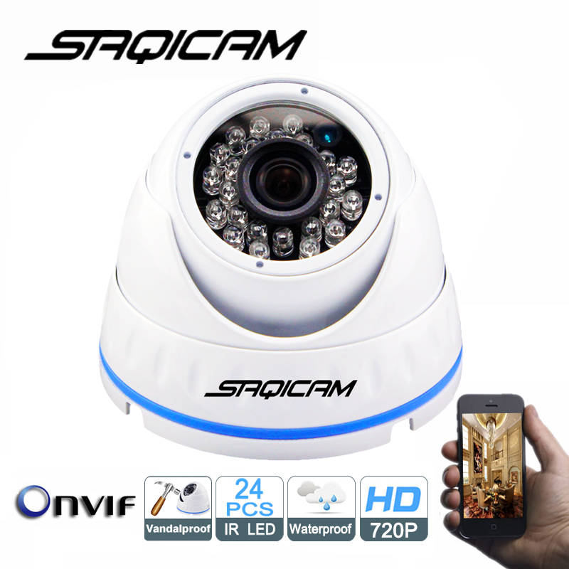 imágenes para Saqicam ONVIF Cámara IP Domo Al Aire Libre Cámara de Seguridad con Visión Nocturna de HD 720 P Cámara de Red Móvil ver