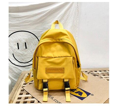 HTB15KeRXpP7gK0jSZFjq6A5aXXai 2019 Backpack Women Backpack Fashion Women Shoulder Bag solid color School Bag For Teenage Girl Children Backpacks Travel Bag