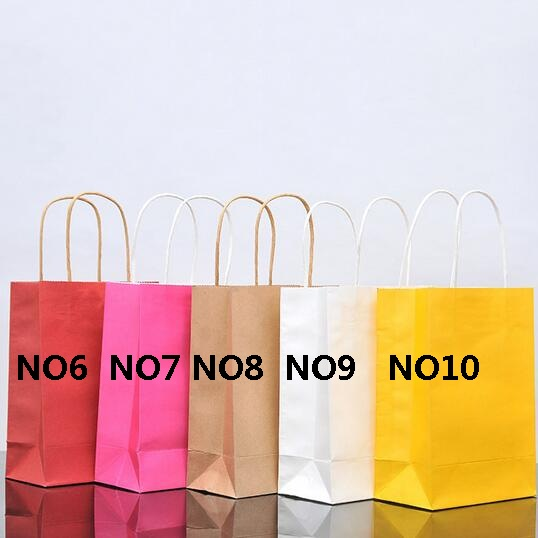 40PCS lot  Kraft paper bag with handles 21x15x8cm Festival gift bag for Gifts Jewelry Wedding Birthday Party High Quality