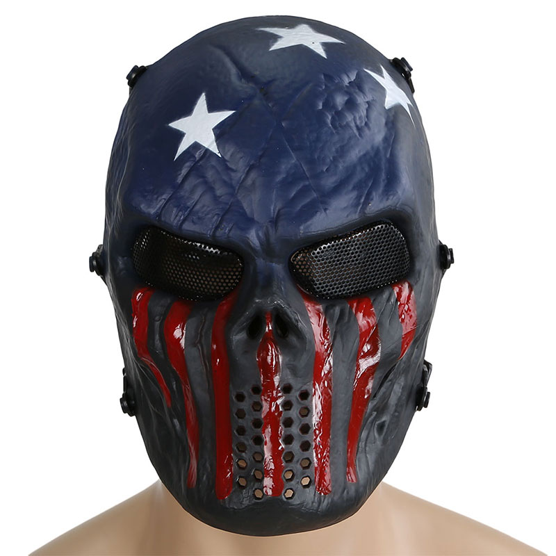 Tactical Military Airsoft Paintball M06 Skull Ghost Protective Full Face Mask CS Wargame Halloween Cosplay Party Captain
