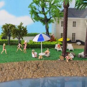 Image 5 - 40 sztuk różnych pozach 1: 87 pływanie figurki HO skala pływanie ludzi sceneria plażowa układ miniaturowy P8720