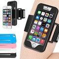 Ginásio + silicone case capa para iphone 5 5s se 6 6 S Plus Correr Desporto Jogging Pulso Cinto Cinta Do Telefone Accessaries