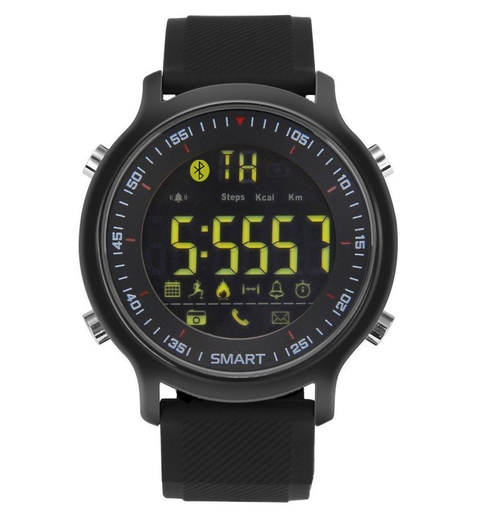 PLYSIN <font><b>Smart</b></font> <font><b>watch</b></font> <font><b>EX18</b></font> IP67 A Waterproof Support Call SMS alert Activities Tracker Sports Pedometer Clock VS DZ09 image