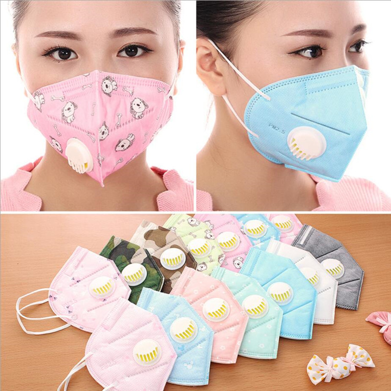 2pcs Men Women PM2.5 mouth mask Breath valve Anti Haze disposable Mask anti dust Mouth-muffle respirator Flu Face masks for face 2pcs set lovers mask anti fog and haze anti pm2 5 breathable breathing valve couples masks dust masks pink blue 2pcs gm5217