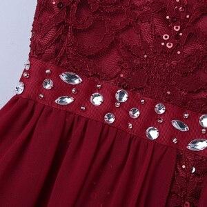 Image 5 - IEFiEL vestido de princesa de tul para niña, bordado de lentejuelas, encaje Floral, flor de Gasa, boda, fiesta de cumpleaños, vestido Formal, 2020