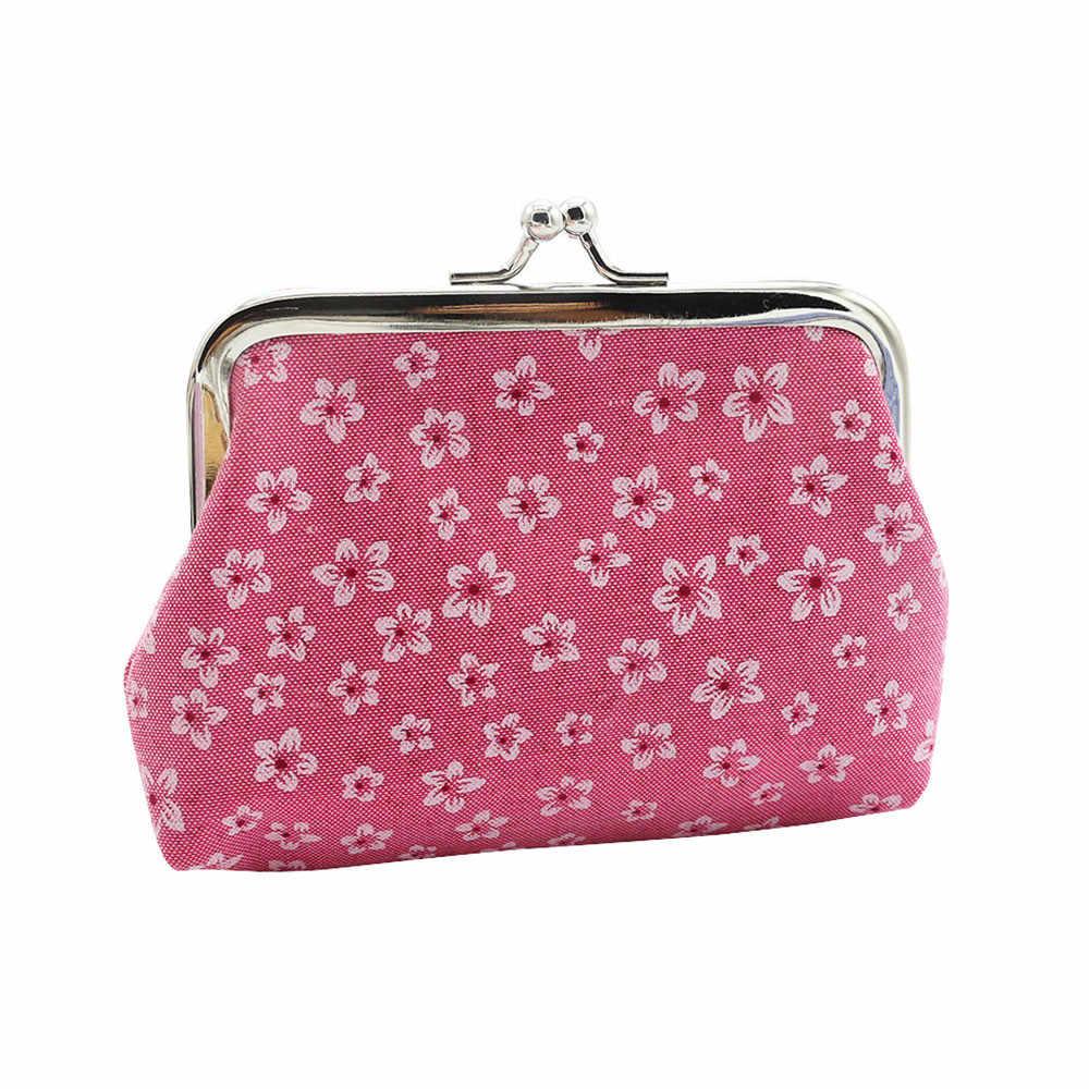 Luksusowe kobiety portmonetka etui pani Retro Vintage kwiat mały portfel torebka posiadacz karty sprzęgłowa torba dziewczyny zmień torebka # A