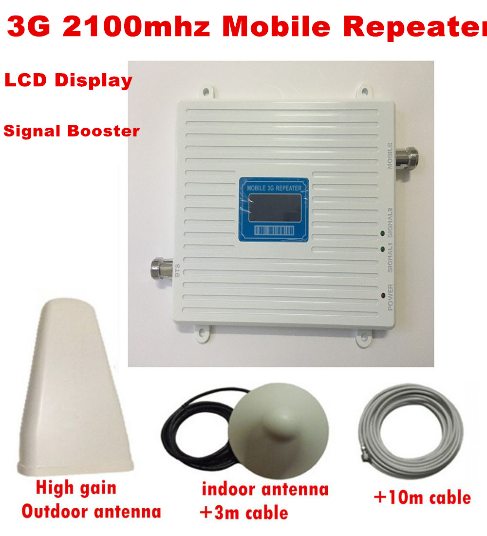 Full set LCD 3G Cellular Signal Repeater signal boosterFull set LCD 3G Cellular Signal Repeater signal booster
