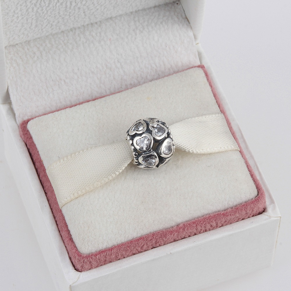 01ed29252 ... discount code for zmzy crystal love heart 925 sterling silver charms beads  european round heart big
