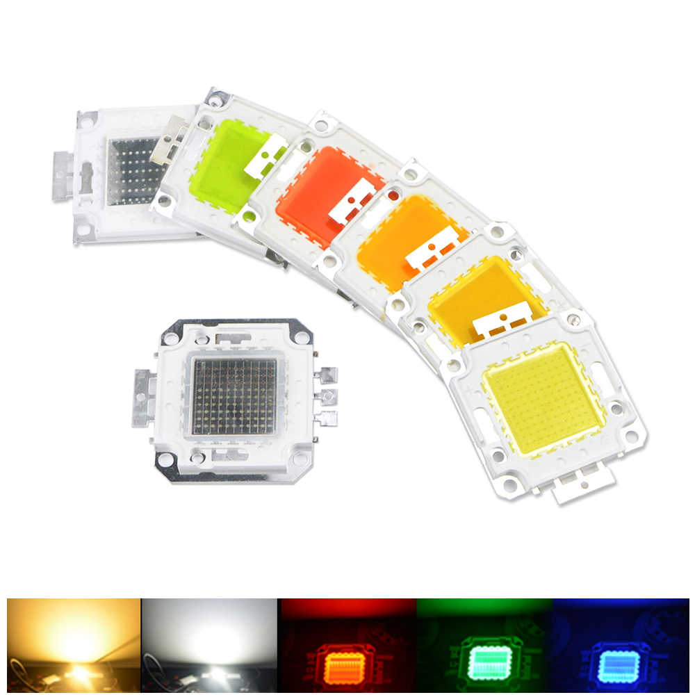 Lighting Accessories LED Lamp beads COB Integrated chip 10W 20W 30W 50W 100W Bulb RGB For Floodlight flashlight emergency lights