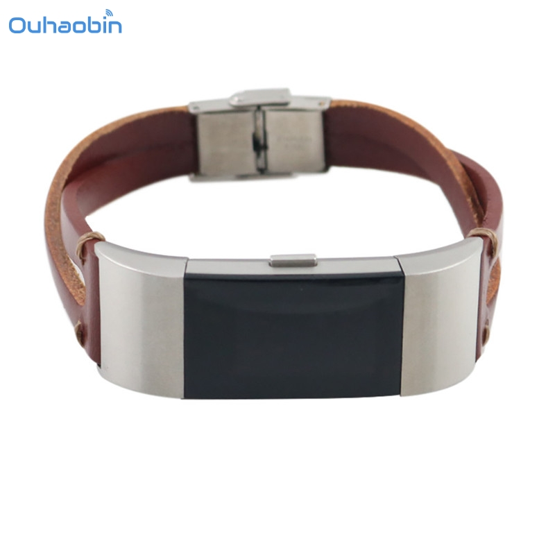 Ouhaobin Luxury Replacement Leather Wristband Band Strap Bracelet For Fitbit Charge 2 Straps High Quality Drop Shipping Sep13