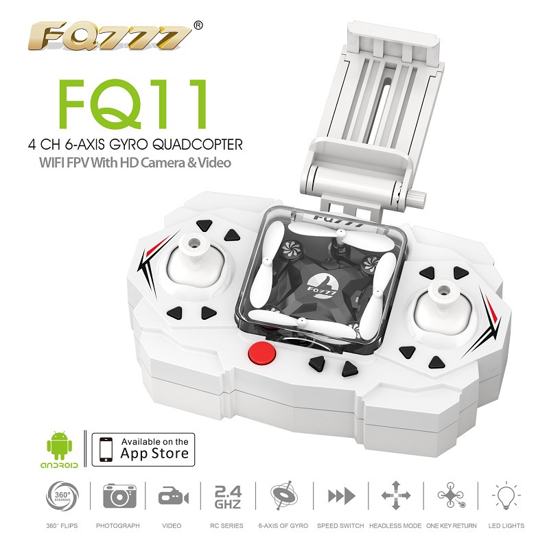 FQ777 FQ11 Wifi FPV with Foldable Arm 2 4G 4CH 6 Axis Headless Mode One Key