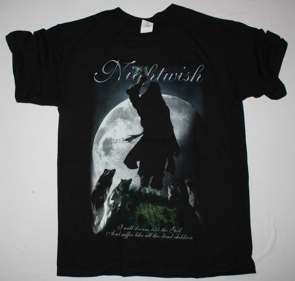 NIGHTWISH SEVEN DAYS TO THE WOLVES BLACK T SHIRT WITHIN TEMPTATION TARJA TURUNEN  100% cotton tee shirt  tops wholesale tee
