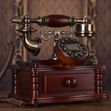 Special offer European telephone landline retro wood household fixed antique new villa