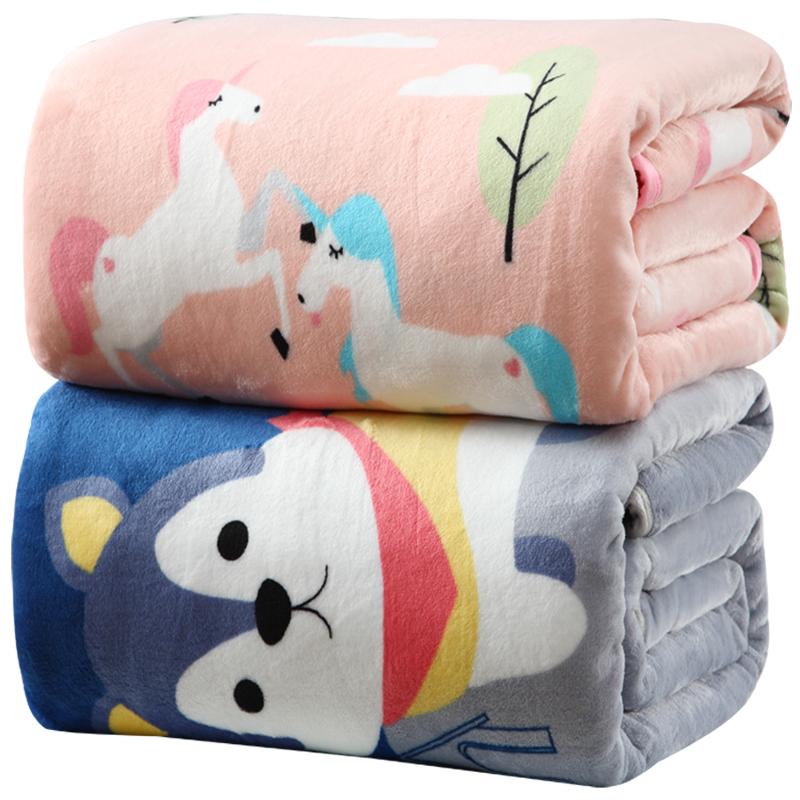 Flannel blankets quilt thickened coral velvet sheets double student dormitory winter warm office nap blanket