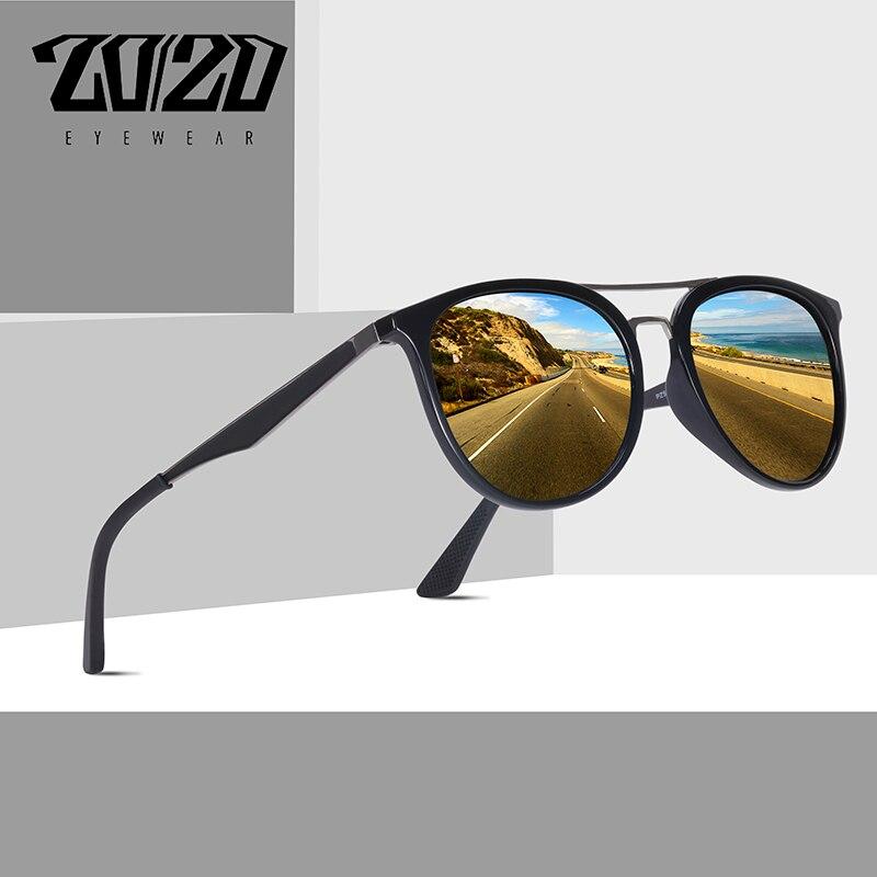 20/20 Brand Design Classic Polarized Sunglasses Men Vintage Driving Sunglasses Women UV400 Oculos Masculino PZ5022