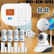 Chuangkesafe Chuangkesafe Smart Home Intruder Antirrobo WIFI Inalámbrico y sistema de alarma GSM Seguridad Para el Hogar + Cámara IP