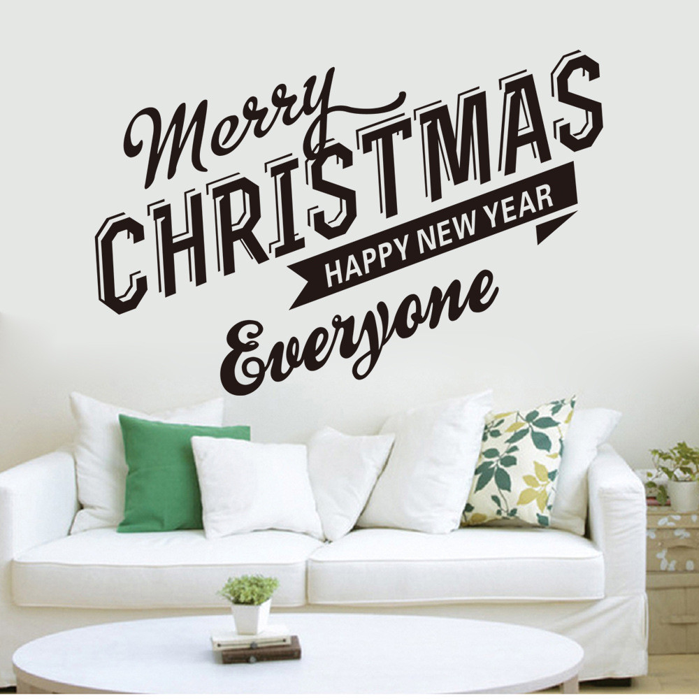 compare prices on hot christmas wallpaper online shopping buy low 2017 hot christmas wall stickers wallpaper decals market art home decoration wall stickers