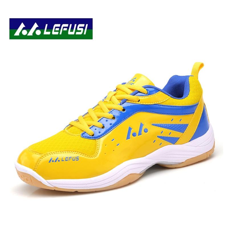2017 hommes baskets authentiques hommes Badminton chaussures en cuir tissu à lacets Ultra-léger Couples chaussures de sport B2829