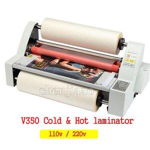 "Image 1 - Hot Roll Laminating Machine 13""  V350 Cold Hot laminator Four Rollers Heating Mode Sealing Width 35cm 220v/110V 1pc"