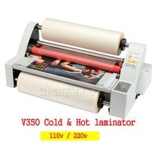 "Hot Roll Lamineermachine 13 ""V350 Koud Hot laminator Vier Rollers Verwarming Modus Afdichting Breedte 35cm 220v /110V 1pc"