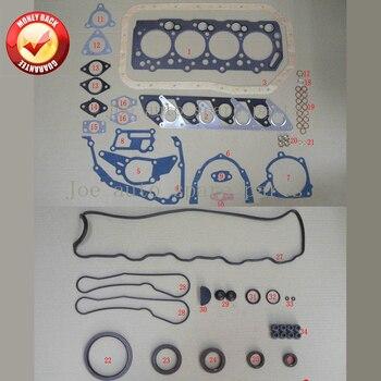 4D56 4D56T completo del motor Junta Set kit para Mitsubishi Montero/L200/L400/CANTER 2477CC 2.5TD 1986- 2003 MD972215 MD997249 M126I37