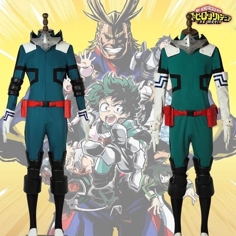 Meu herói academia cosplay uniforme midoriya izuku traje traje herotraje carnaval adulto homem dia das bruxas feito sob encomenda conjunto completo