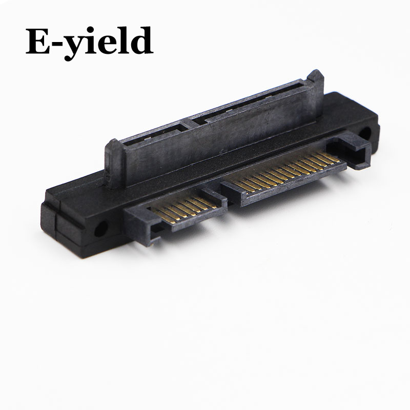22Pin Right Angle UP 90 SATA Adapter Male To Female 7+15 Pin Serial ATA Extension Adapters Connector Converter