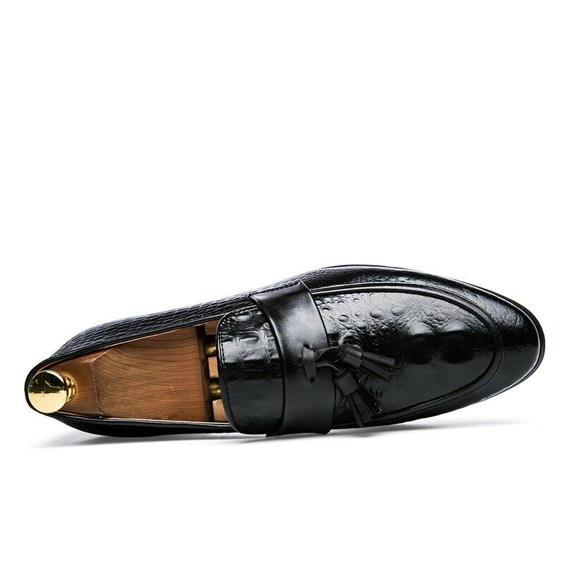 mens tassel shoes leather italian formal snake fish skin dress office footwear luxury brand fashion elegant oxford shoes for men (5)