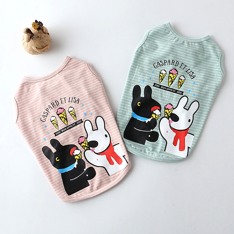 2017 High Quality Summer Pet Dog T Shirt Harness Dog Summer Clothes Cute Lovely Dog Vest Shirts For Puppy Cats Pet Shop