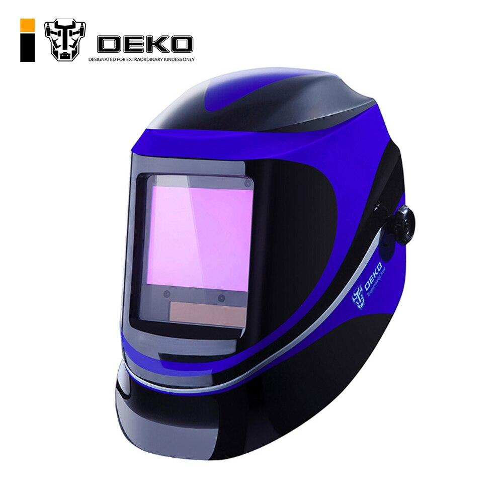 DEKO супер Солнечная Автоматическая затемнение MIG MMA электрическая Сварочная маска сварочный шлем сварочный колпачок сварочный объектив для ...