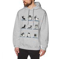 Husky Yoga Sweatshirt Male Geek O neck hoodies birhtday Gift long sleeve
