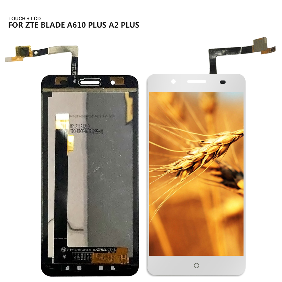 For ZTE Blade A610 plus A2 plus BV0730 Touch Screen Digitizer LCD Display Assembly Mobile Phone Panel lcd Pepair Parts