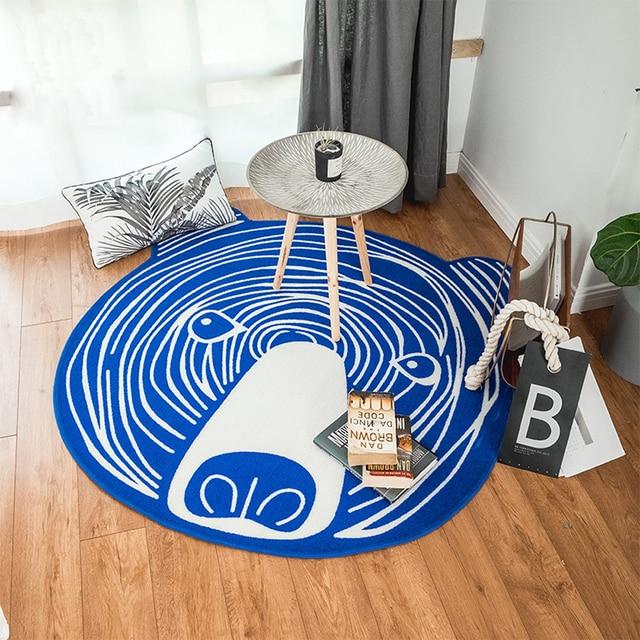 Cartoon Blauer Weißer Bär Design Multifunktions Teppich Rutschfeste ...