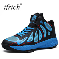 Ifrich New Trend Basketball Men Shoes Comfortable Male Training Sport Sneakers Black Red Man Basketball Footwear Cheap Trainers