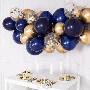 Image 4 - 30 قطعة بالونات في منتصف الليل الأزرق الداكن بالونات صغيرة صغيرة اللاتكس بالونات الباستيل العازبة حفلة عيد ميلاد استحمام الطفل الديكورات