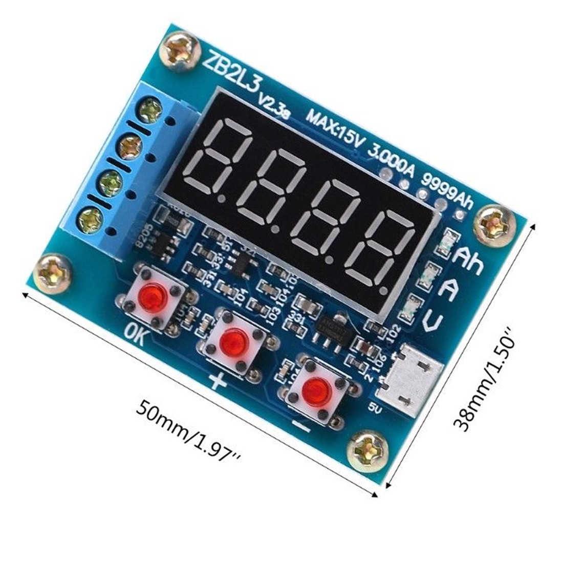 18650 Li-Ioni di Litio Piombo-Acido Batteria Misuratore di Capacità di Scarico Tester Analyzer 1.2-12V di Prova