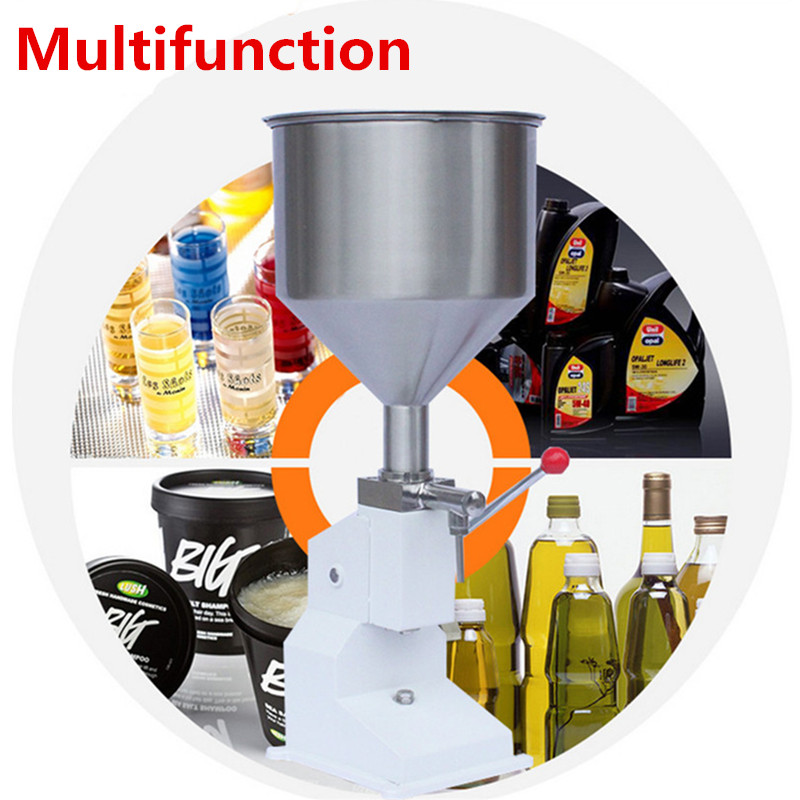 10L Manual Hand Pressure Filling Machine Stainless Paste Dispensing Liquid Packaging Equipment Shampoo Cosmetic Machine 0-50ml