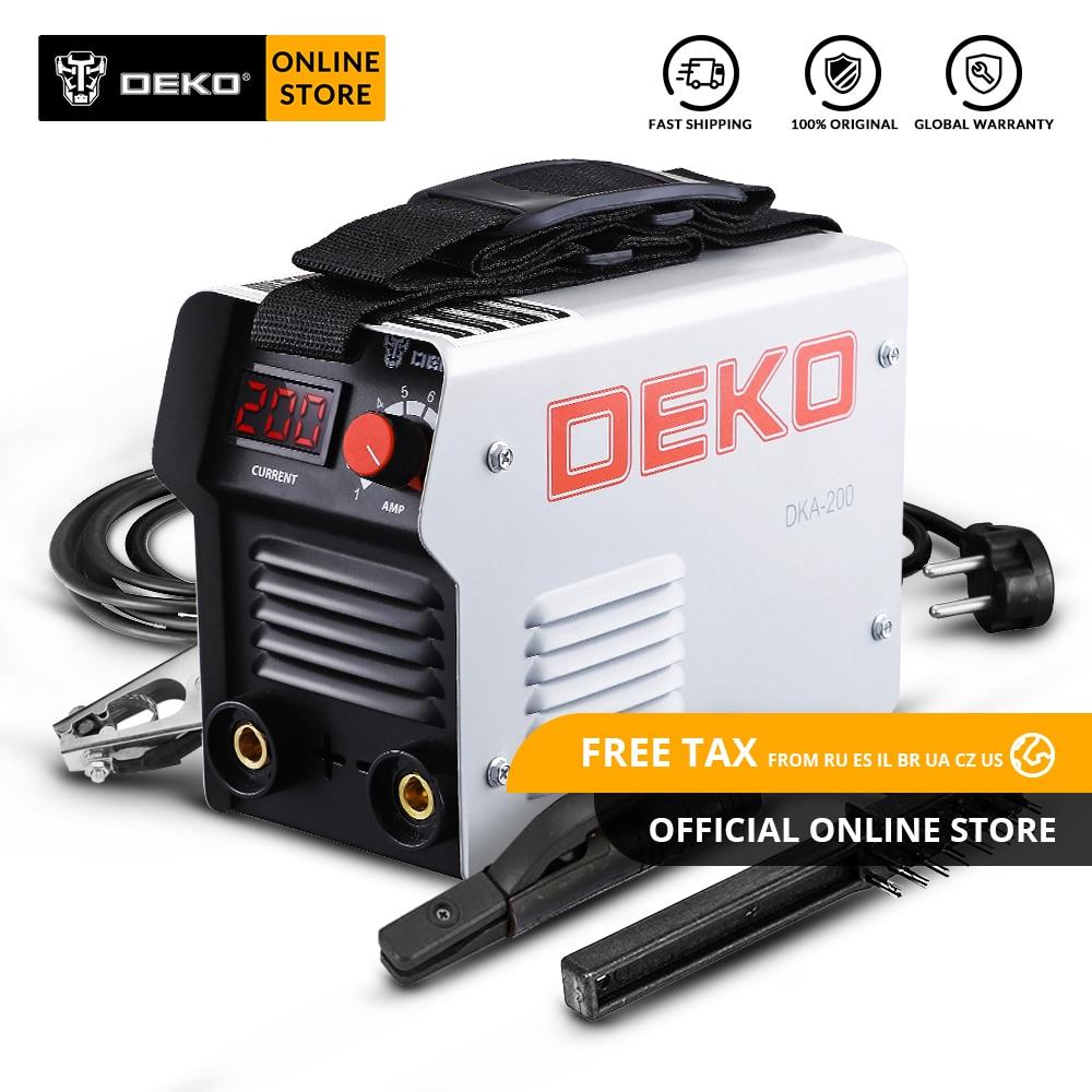 DEKO DKA Series DC Inverter ARC Welding Machine 220V IGBT MMA Welder 120/160/200/250 Amp For Home Beginner Lightweight Efficient