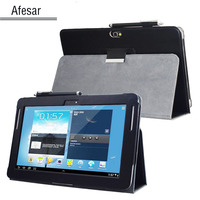 Note 10 1 2012 Release Advanced Leather Stand Metal Back Cover For Samsung Galaxy Note GT